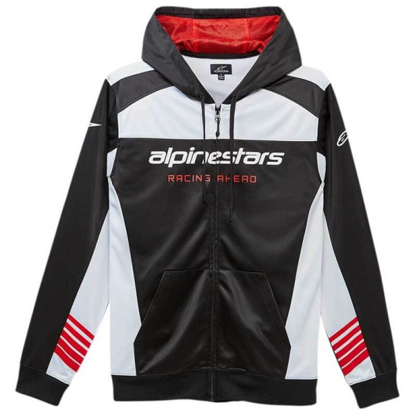 Black Alpinestars GPZ Fleece Motorcycle Motorbike Casual Hoodie
