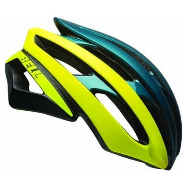 Bell Stratus bike helmet blue yellow fluo