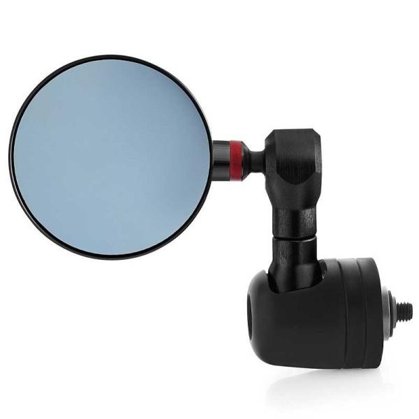 Rizoma Spy-R motorcycle mirrors black 80 mm