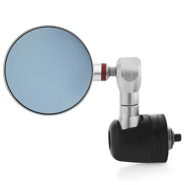 Rizoma Spy-R motorcycle mirrors silver 80 mm