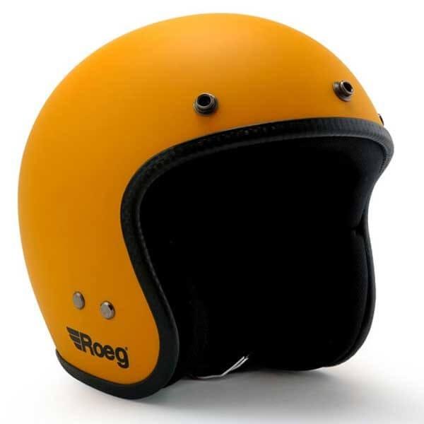 ROEG Moto JETT Sunset Yellow Matte motorcycle jet helmet