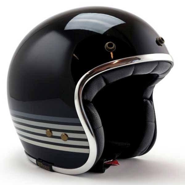 Roeg Moto Jett Graphite Sky Black motorcycle jet helmet