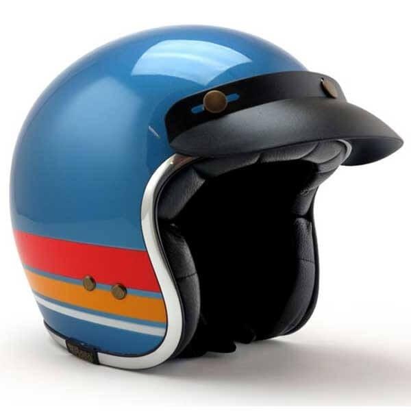 Roeg Moto Jett Bronco Blue motorcycle jet helmet