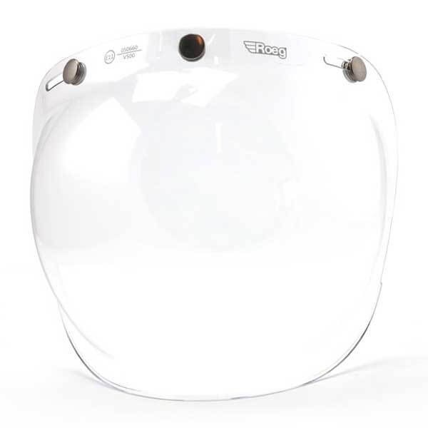 Visier ROEG Moto Bubble Visor Clear