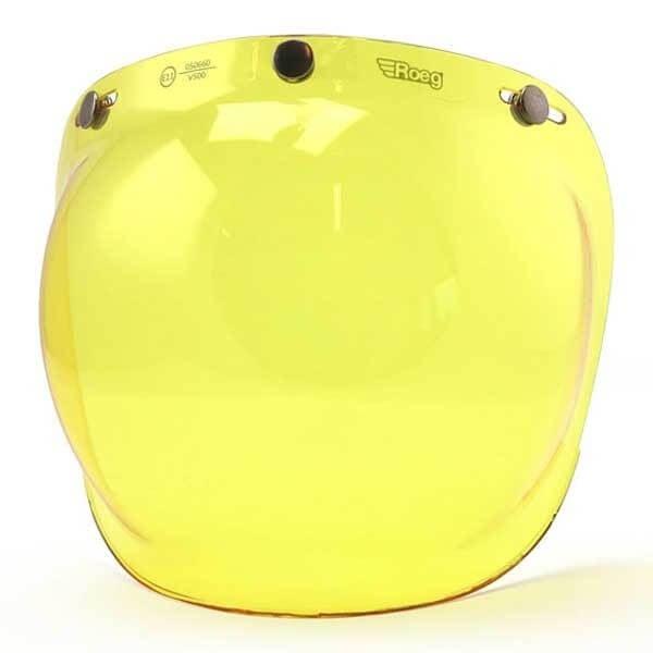 Visera ROEG Moto Bubble Visor Yellow