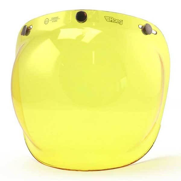 Visor ROEG Moto Bubble Visor Yellow