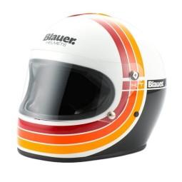 Motorrad Helm Vintage BLAUER HT 80s White, Vintage Helme