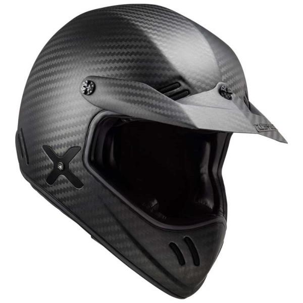 LS2 Xtra MX471 vintage helmet matte carbon