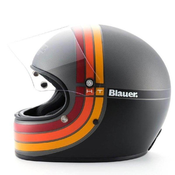 Motorrad Helm Vintage BLAUER HT 80s Titanium