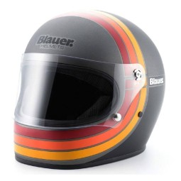 Motorrad Helm Vintage BLAUER HT 80s Titanium ,Vintage Helme