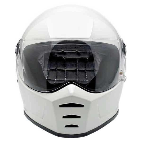 Biltwell Lane Splitter gloss white motorcycle helmet