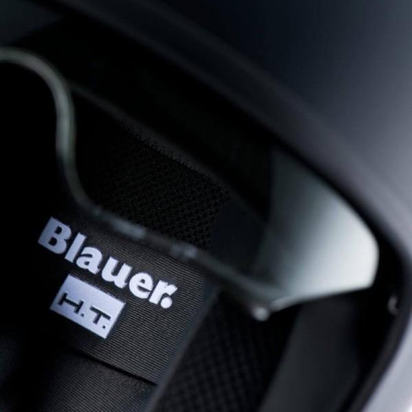 Casco Moto Jet BLAUER HT Pilot 1.1 Monochrome Negro Mate