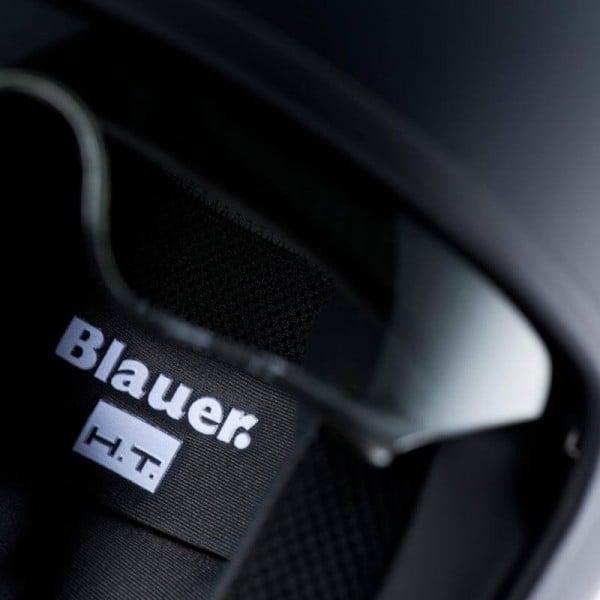 Motorcycle Jet Helmet BLAUER HT Pilot 1.1 Monochrome Black Matt