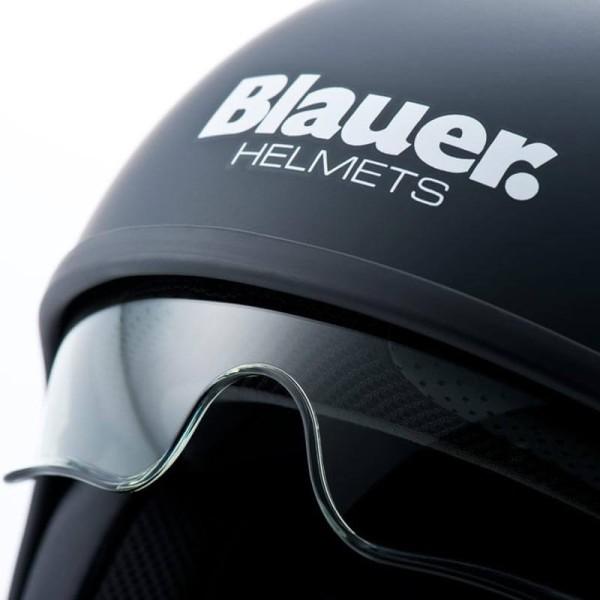 Motorrad Jet Helm BLAUER HT Pilot 1.1 Monochrome Schwarz Matt