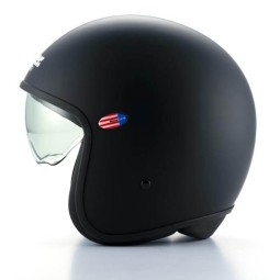 Motorcycle Jet Helmet BLAUER HT Pilot 1.1 Monochrome Black Matt ,Jet Helmets