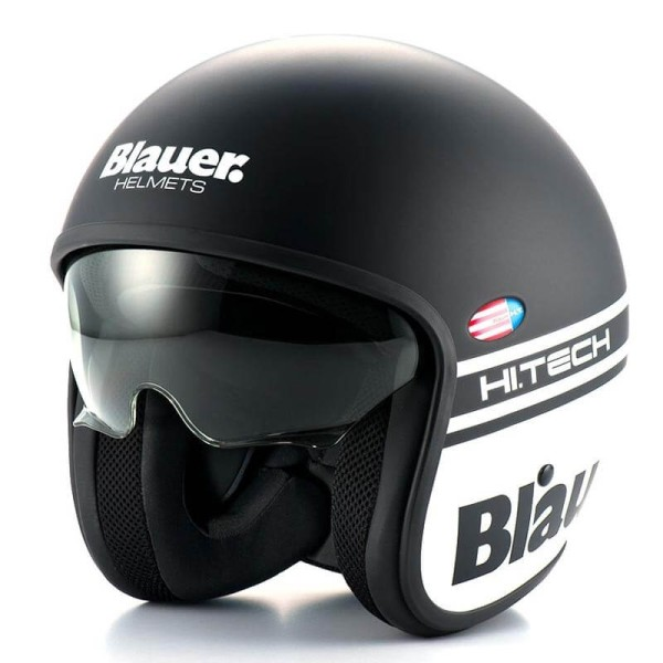 L Black Matt Blauer HT Casco Pod Monochrome