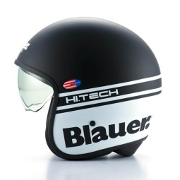 Motorrad Jet Helm BLAUER HT Pilot 1.1 Schwarz Matt ,Jet Helme