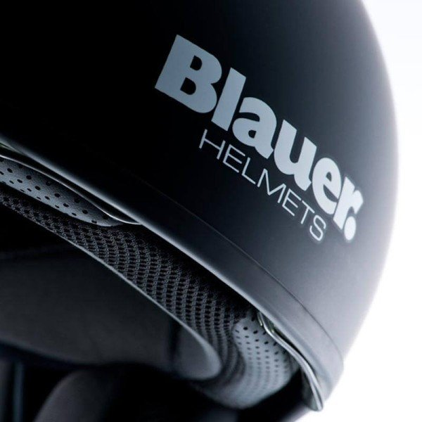 Motorrad Jet Helm BLAUER HT Pilot 1.1 Schwarz Matt