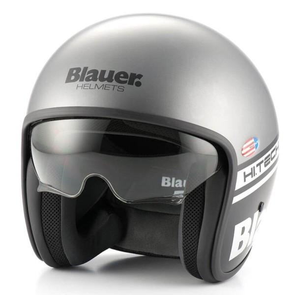 Casco Moto Jet BLAUER HT Pilot 1.1 Gris Mate