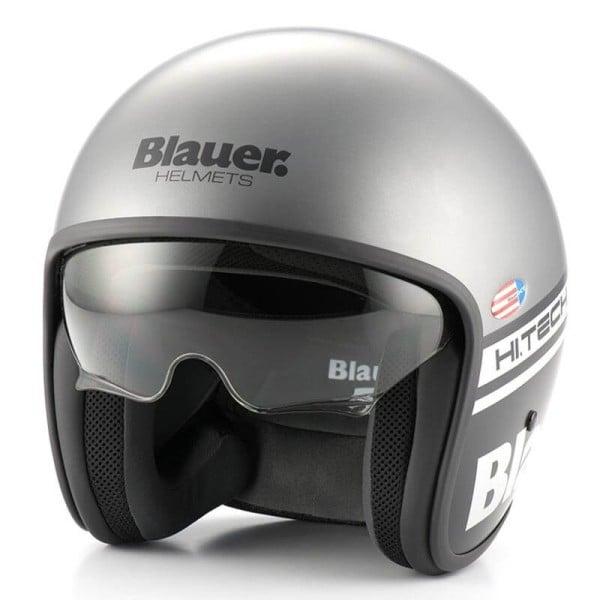 Motorrad Jet Helm BLAUER HT Pilot 1.1 Grau Matt