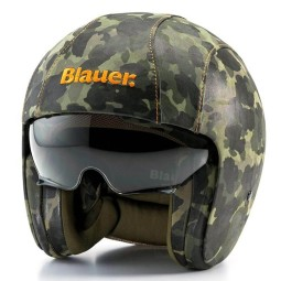 Motorrad Jet Helm BLAUER HT Pilot 1.1 Camouflage