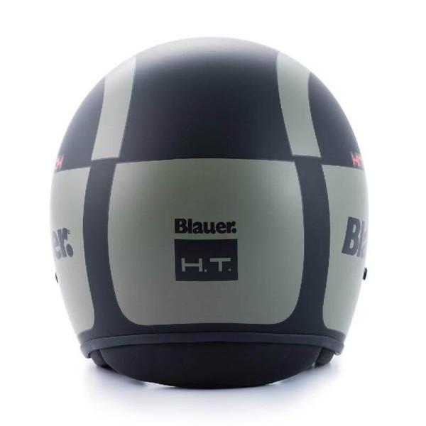 Motorcycle Jet Helmet BLAUER HT Pilot 1.1 G Black Matt Green