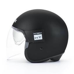 Motorrad Jet Helm BLAUER HT POD Monochrome Schwarz Matt, Jethelme