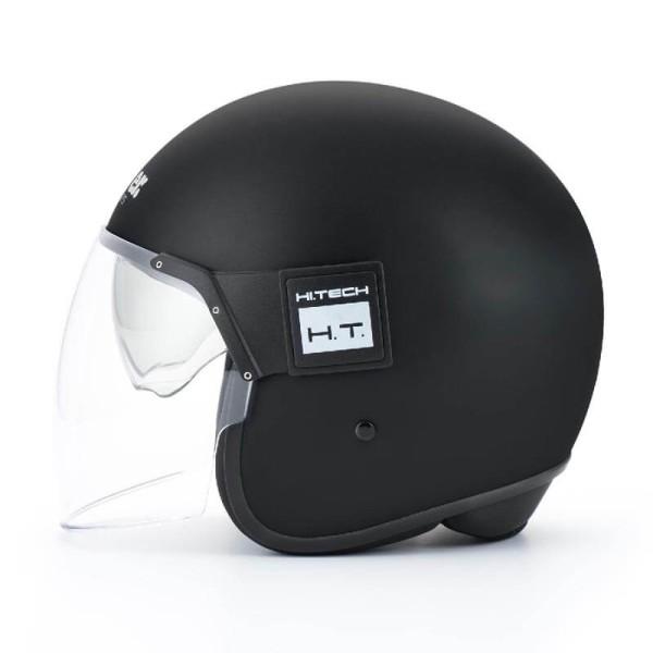 Motorrad Jet Helm BLAUER HT POD Monochrome Schwarz Matt