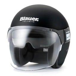 Motorcycle Jet Helmet BLAUER HT POD Monochrome Black Matt ,Jet Helmets