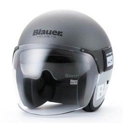 Motorrad Jet Helm BLAUER HT POD Titan Grau
