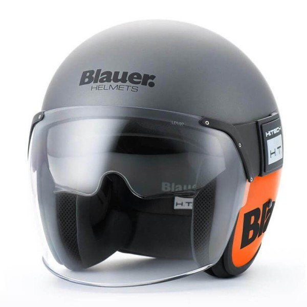 Casque Moto Jet BLAUER HT POD Titane Orange