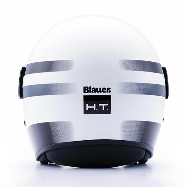 Casco Moto Jet BLAUER HT POD Stripes Blanco Negro