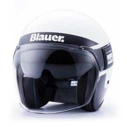 Casco Moto Jet BLAUER HT POD Stripes Blanco Negro  ,Cascos Jet