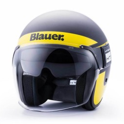 Motorcycle Jet Helmet BLAUER HT POD Stripes Black Yellow ,Jet Helmets
