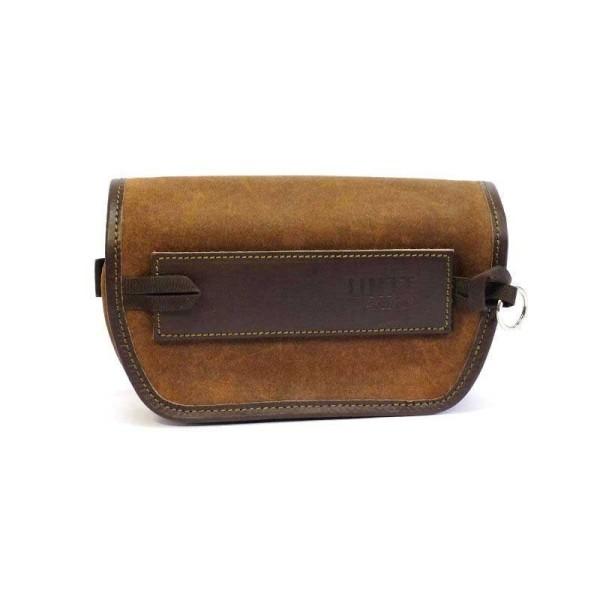 Unit Garage Sahara Brown motorcycle handlebar bag