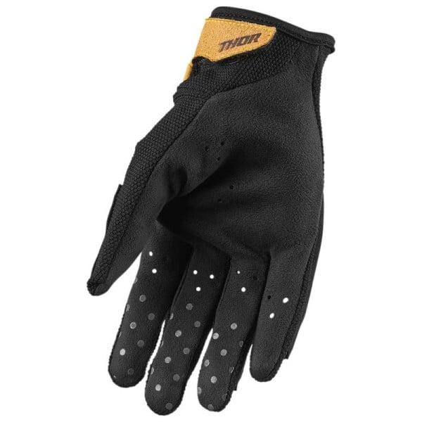 Thor Hallman Digit S8S black brown motorcycle gloves