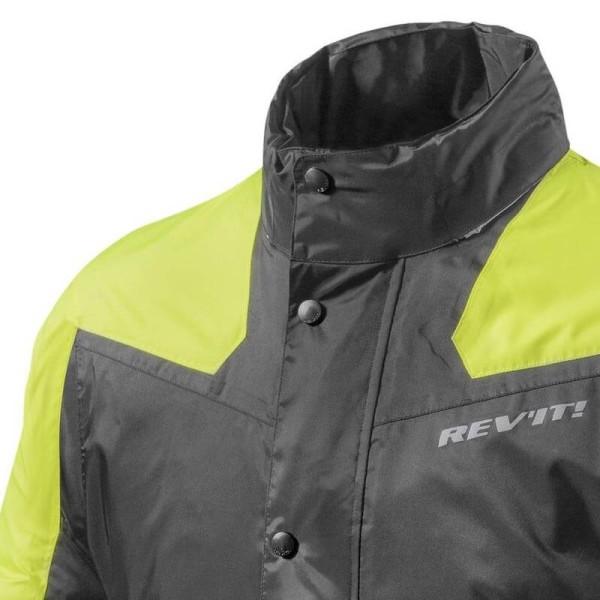 Veste de Pluie Moto REVIT Nitric 2 H2O Noir-Jaune Neon