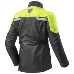 Veste de Pluie Moto REVIT Nitric 2 H2O Noir-Jaune Neon ,Equipement Moto Fonctionnelle