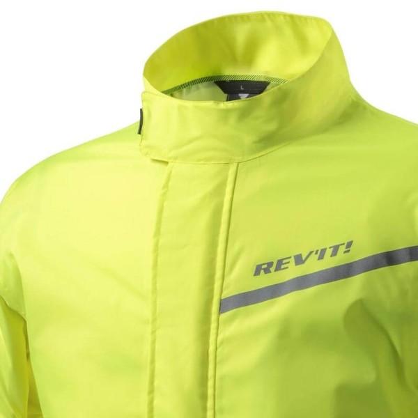 Motorcycle Rain Jacket REVIT Cyclone 2 H2O Neon Yellow