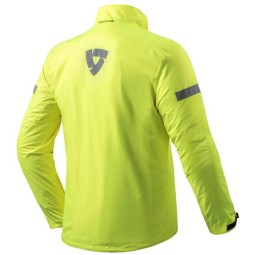 Motorcycle Rain Jacket REVIT Cyclone 2 H2O Neon Yellow