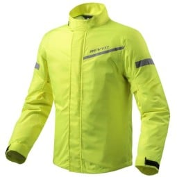 Motorcycle Rain Jacket REVIT Cyclone 2 H2O Neon Yellow ,Functional Motorcycle Gear