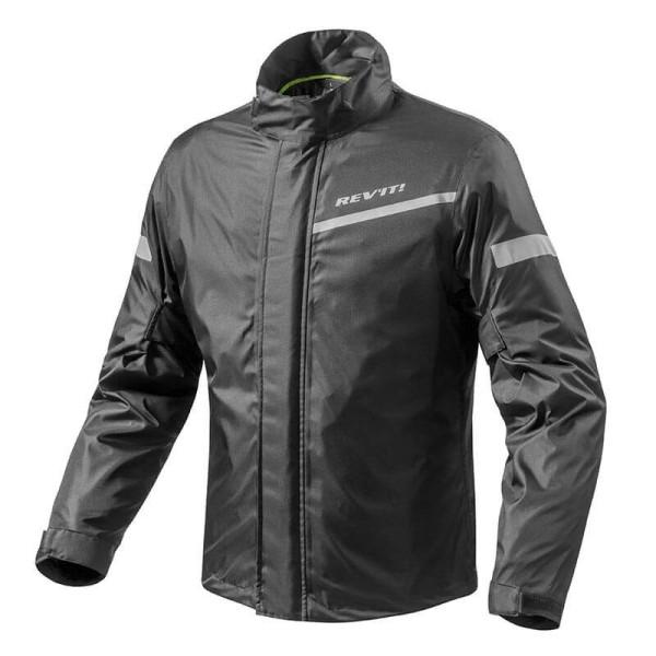 Motorrad-Regenjacke REVIT Cyclone 2 H2O Schwarz