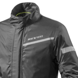 Giacca Moto Antipioggia REVIT Cyclone 2 H2O Nero, Abbigliamento Funzionale Moto