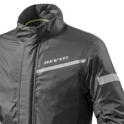 Motorrad-Regenjacke REVIT Nitric 2 H2O Schwarz ,Funktions Motorrad Bekleidung