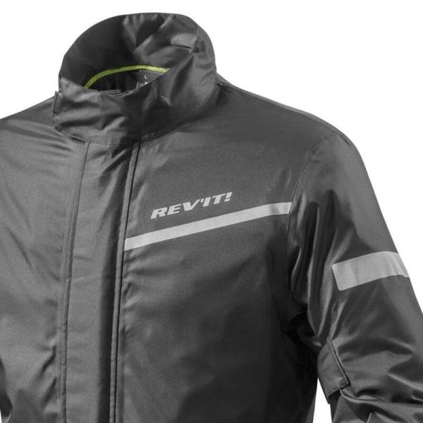 Motorcycle Rain Jacket REVIT Cyclone 2 H2O Black