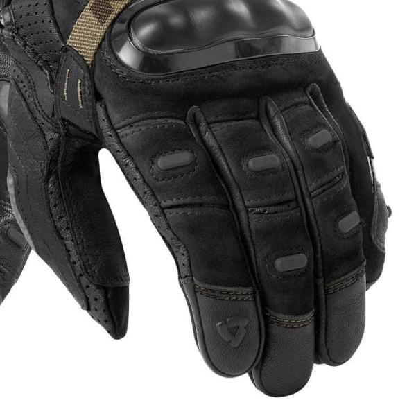 Motorcycle Gloves Leather REVIT Cayenne Pro Black