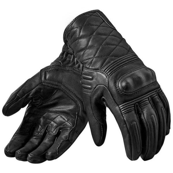 Guantes de cuero moto REVIT Monster 2 Negro