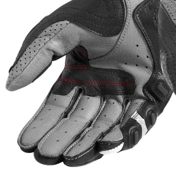 Motorcycle Gloves Leather REVIT Cayenne Pro Grey Red