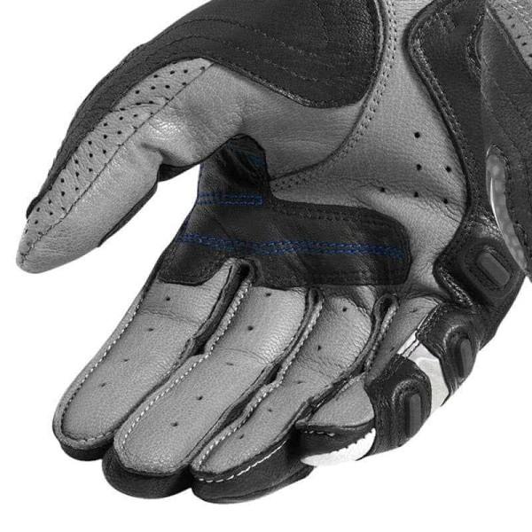Guantes de cuero moto REVIT Cayenne Pro Gris Azul
