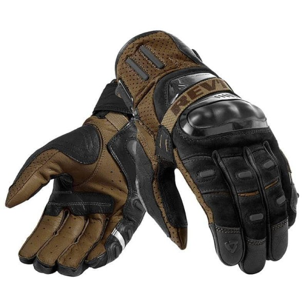 Motorcycle Gloves Leather REVIT Cayenne Pro Black Sand
